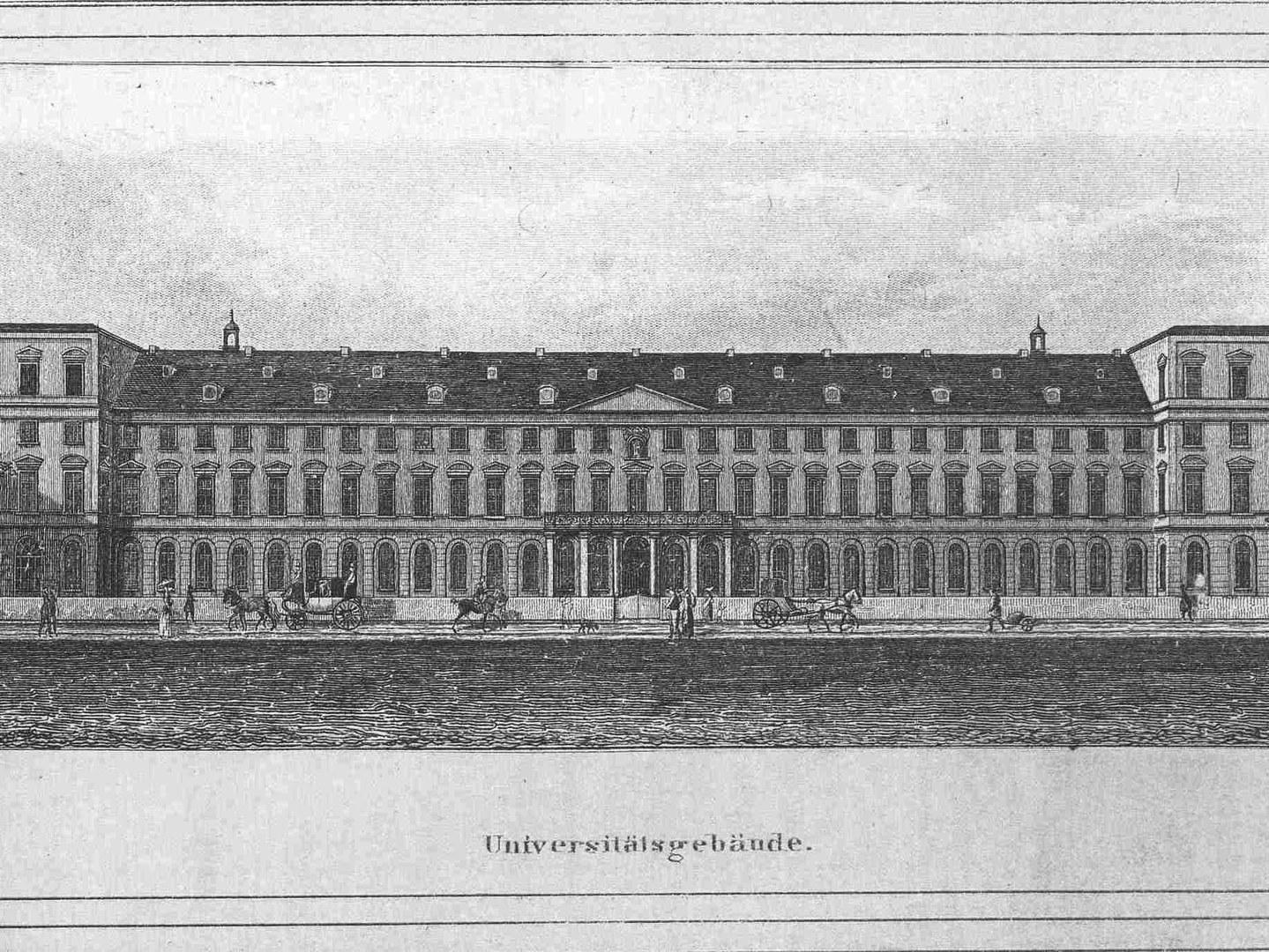 Bonner Universitätshauptgebäude im Jahr 1822