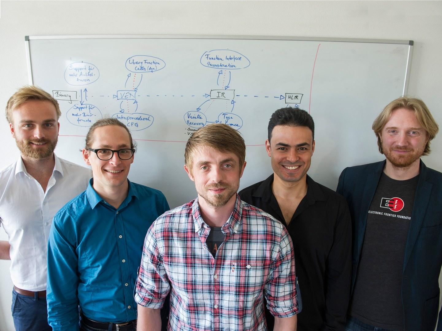 Das Gründerteam von Code Intelligence (von links):