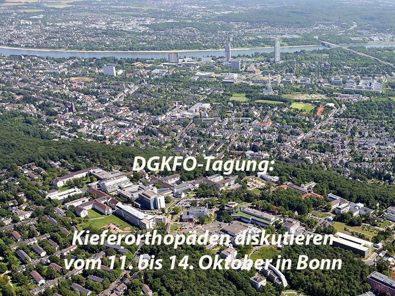 Jahrestagung der Deutschen Gesellschaft für Kieferorthopädie (DGKFO) vom 11. bis 14. Oktober: