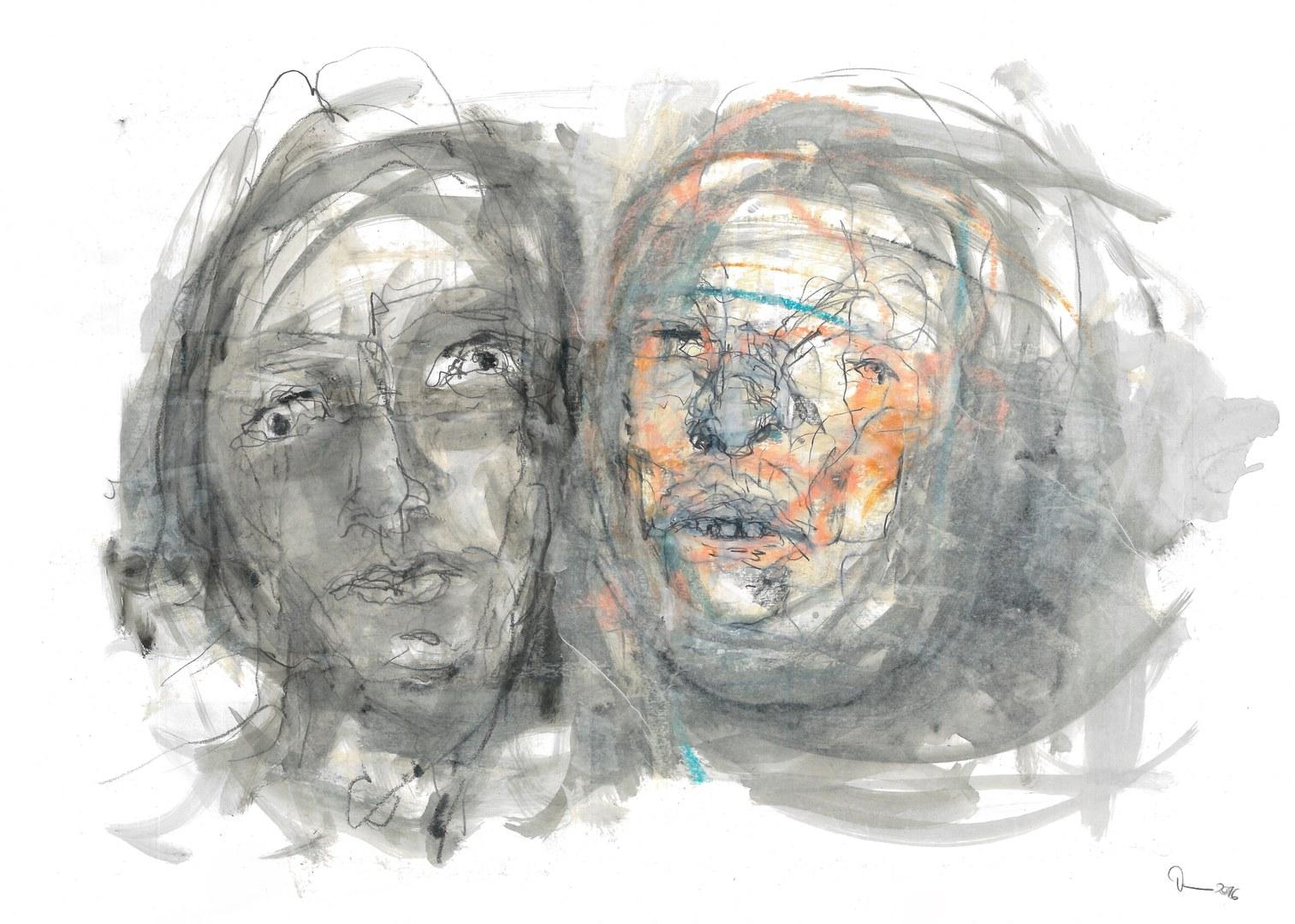 Mumienportrait mit Selbstportrait