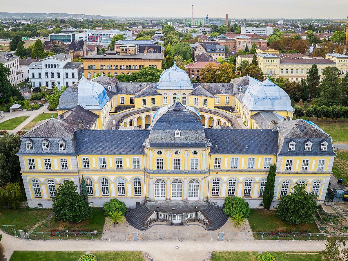 Dacharbeiten am Poppelsdorfer Schloss
