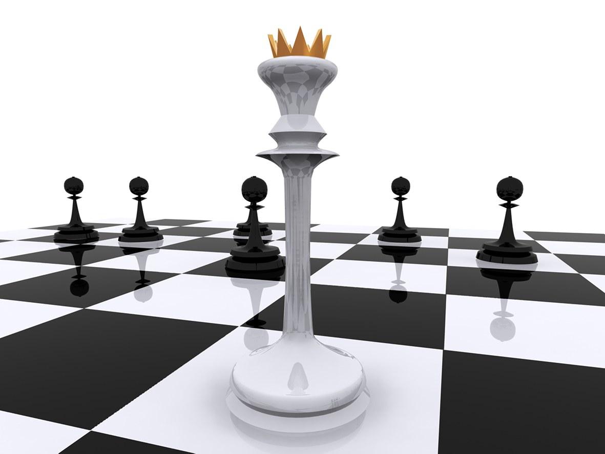 König auf dem Schachbrett: