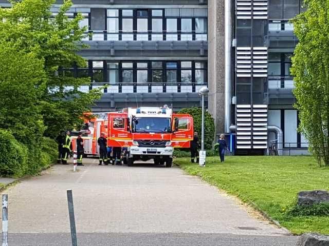 Feuerwehreinsatz an den Chemischen Instituten