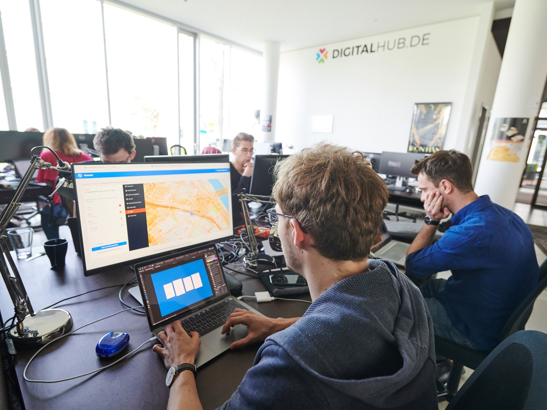 Blick in die Räume des Digital Hub Region Bonn: