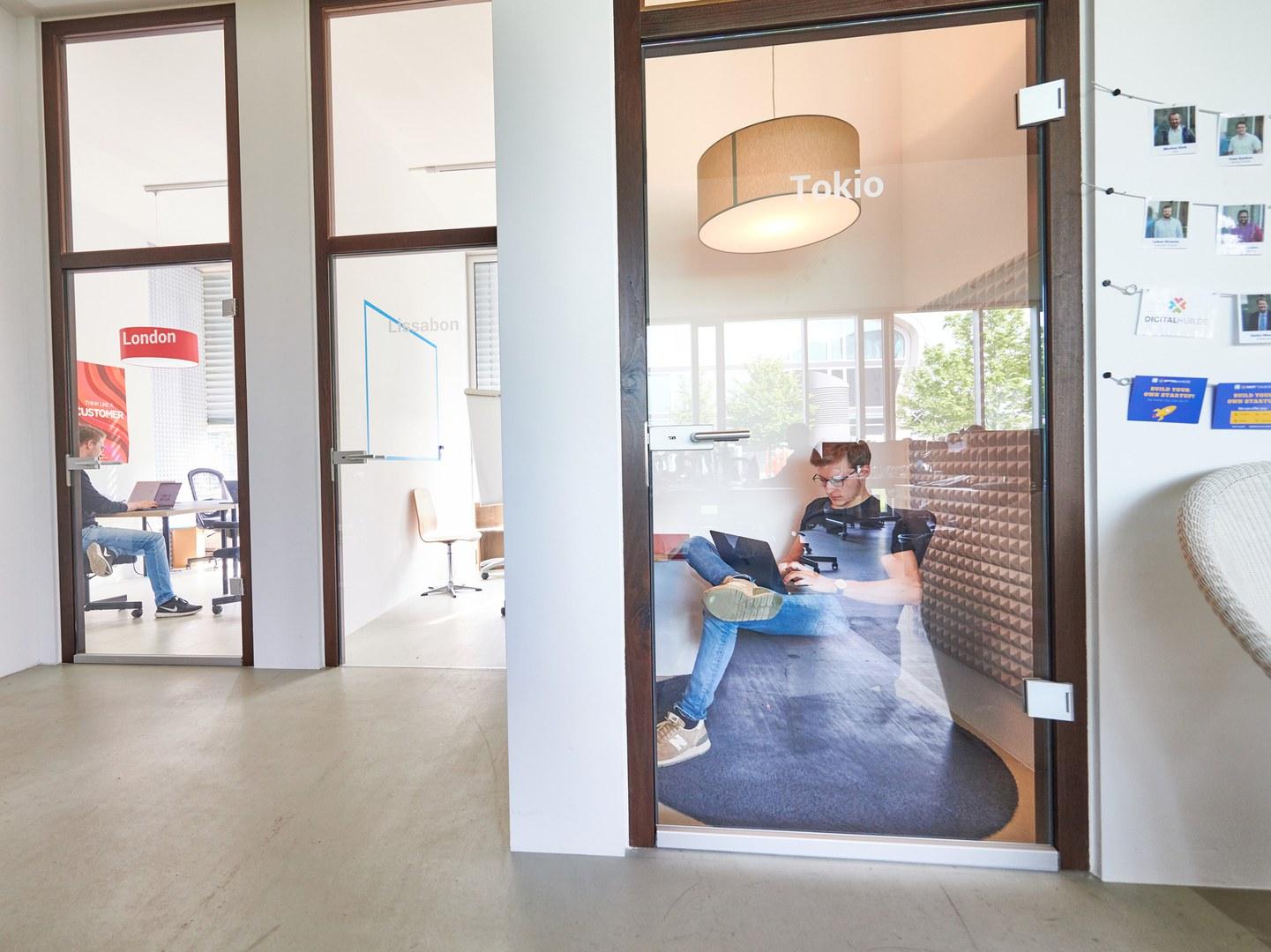 Die Besprechungsräume im Digital Hub