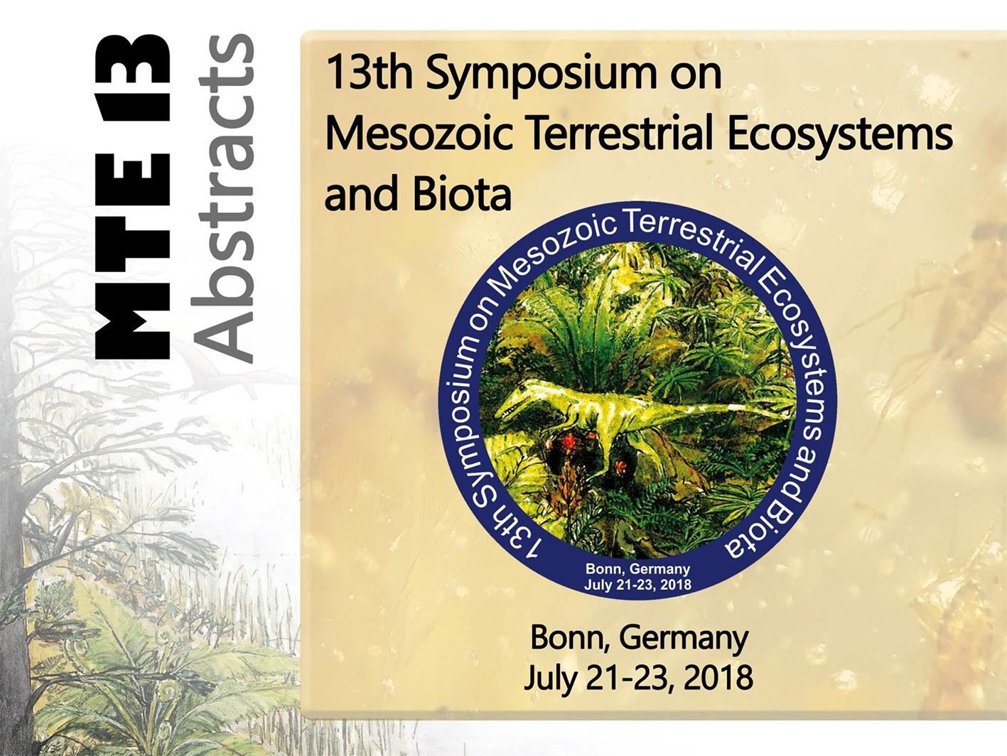 Beim 13. Symposium on Mesozoic Terrestrial Ecosystems and Biota (MTE13)