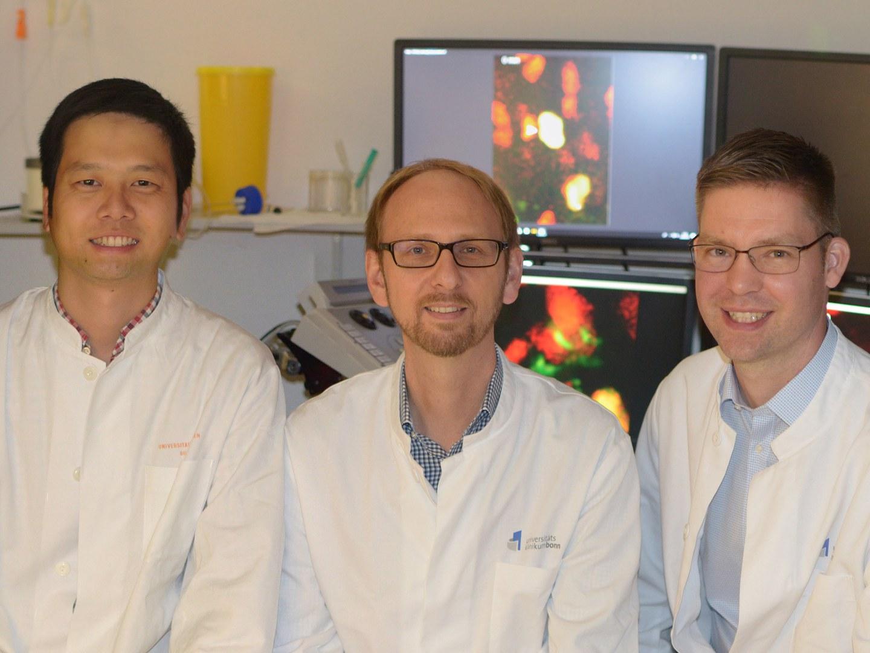 Dr. Kenichi Kimura, Dr. Michael Hesse und Dr. Michael Döngi