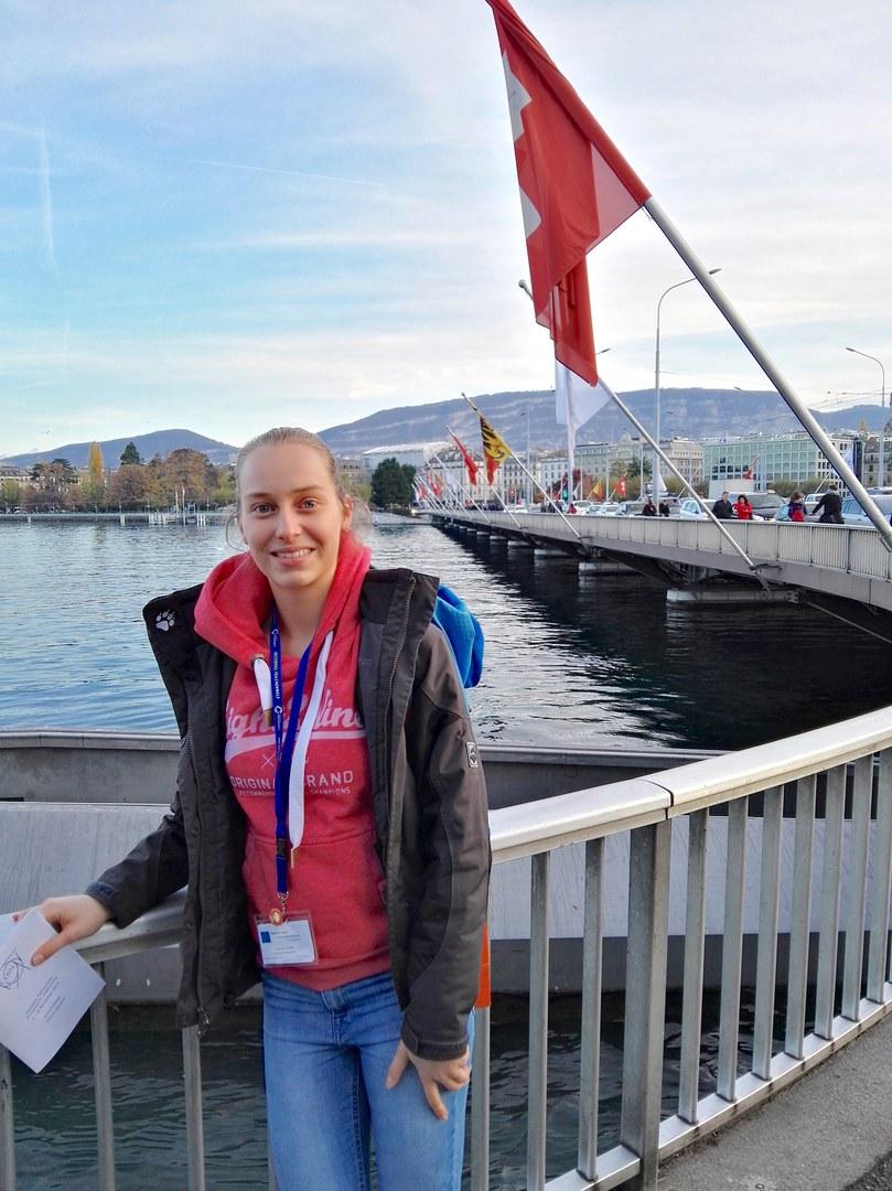 Carolin Kohl bei einem Besuch in Genf: