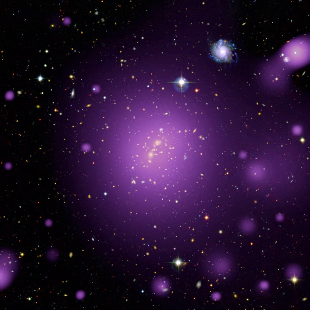 Das Bild zeigt den Galaxienhaufen XLSSC006: