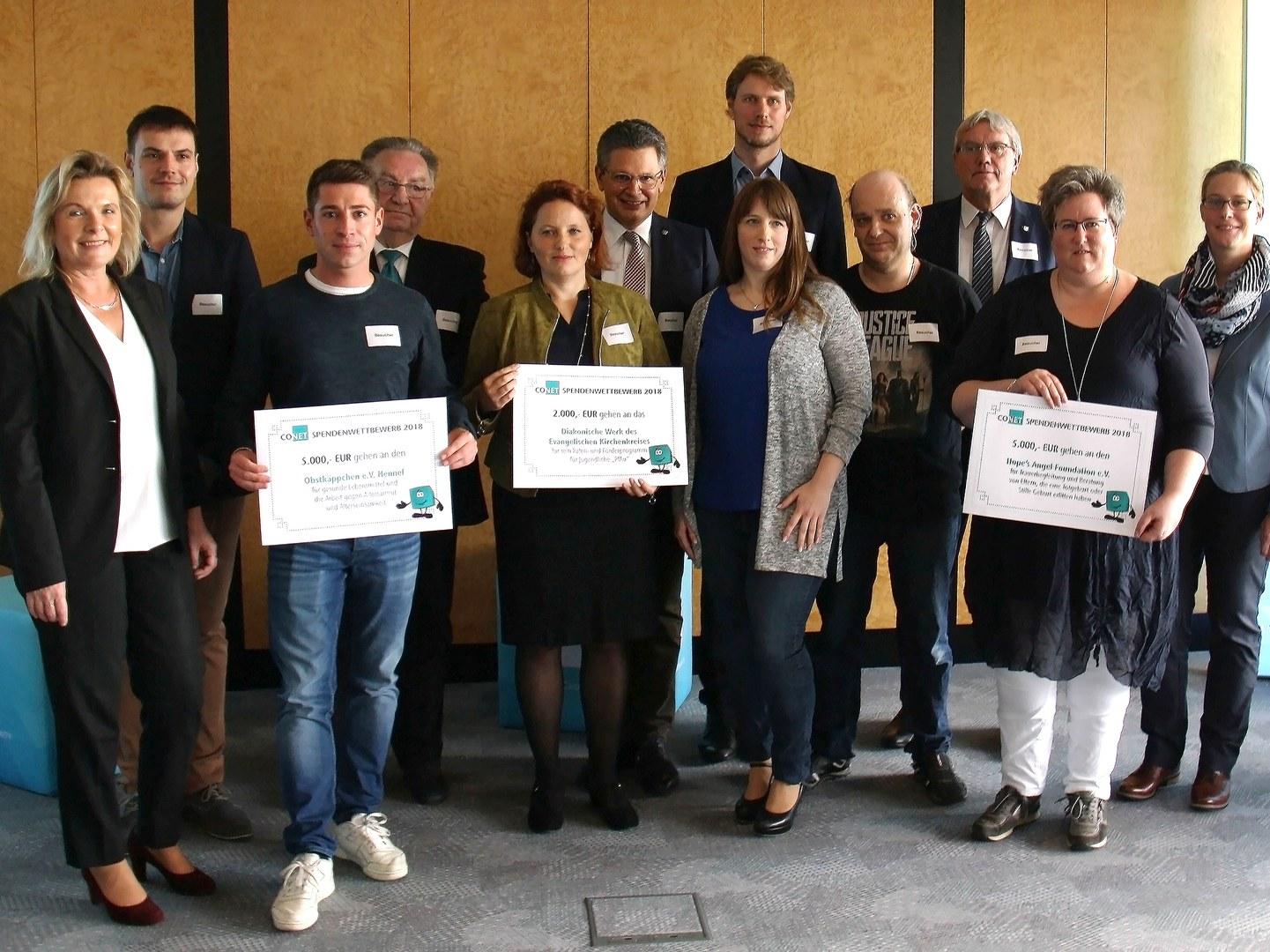 Die Gewinner des CONET-Spendenwettbewerbs