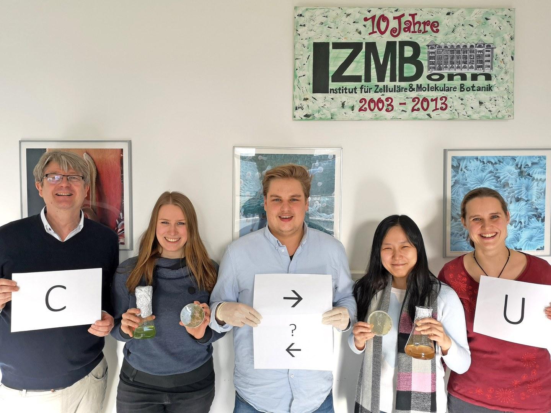 Volker Knoop, Elena Lesch, Bastian Oldenkott, Yingying Yang und Mareike Schallenberg