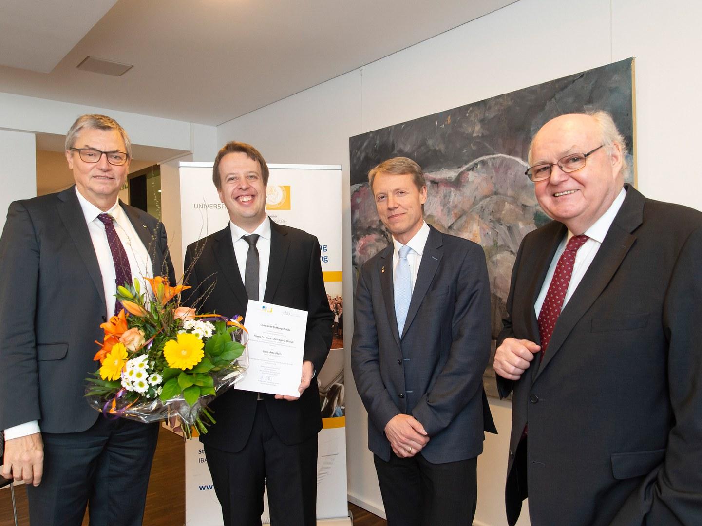 Übergabe des Lisec-Artz-Preises im Bonner Universitätsclub (von links):