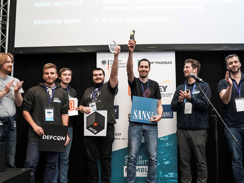 Siegerehrung des Cyber Security Rumbles (von links):