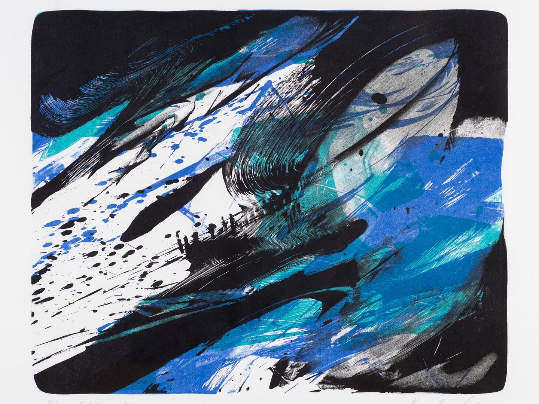 Farblithographie von Karl Otto Götz,