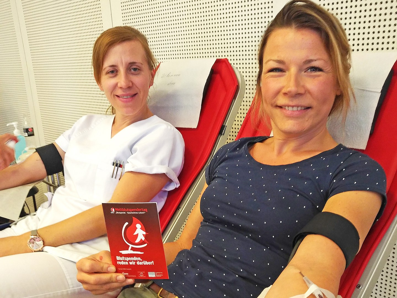 Erfolgreiche Aktion zum Welt-Blutspendetag: