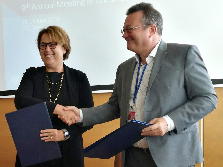Unterzeichnung des Kooperationsabkommens in Wien:
