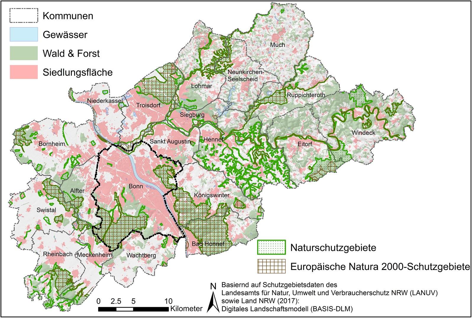 Die Region Bonn/Rhein-Sieg
