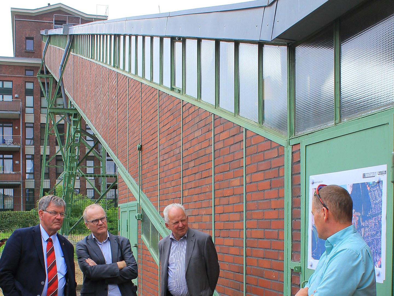 Besichtigung des Wohnbauprojektes Grube Carl in Frechen: