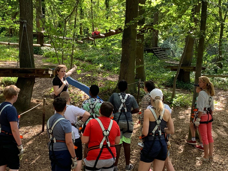 Abschluss der Adipositas-Schulung im Kletterwald:
