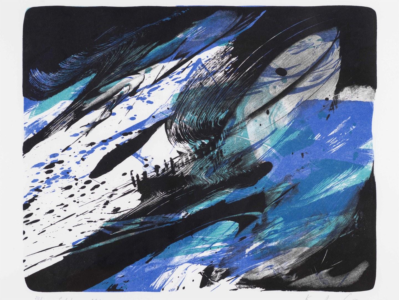 Farblithographie von Karl Otto Götz, Selphen, 1992