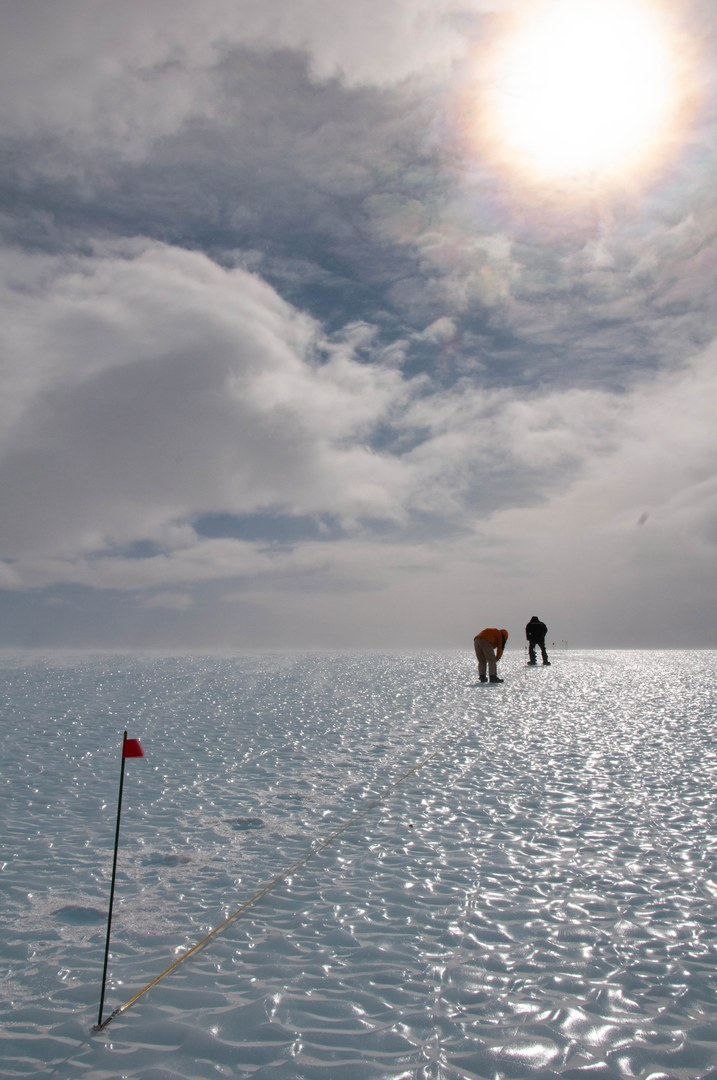 Surface of the blue ice field