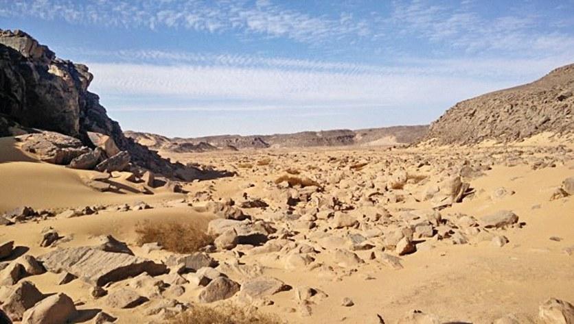 The research area Wadi el Malik
