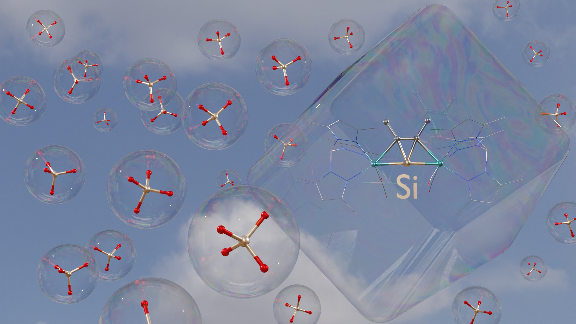 3D representation of one of the new molecules.