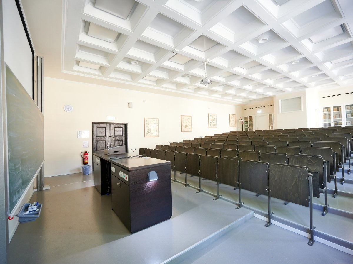 Empty lecture hall.