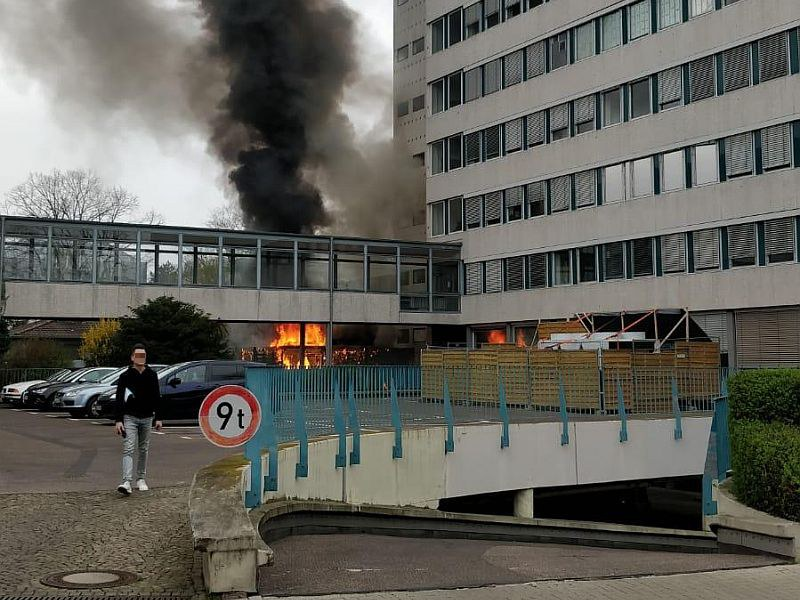 Fire at University building