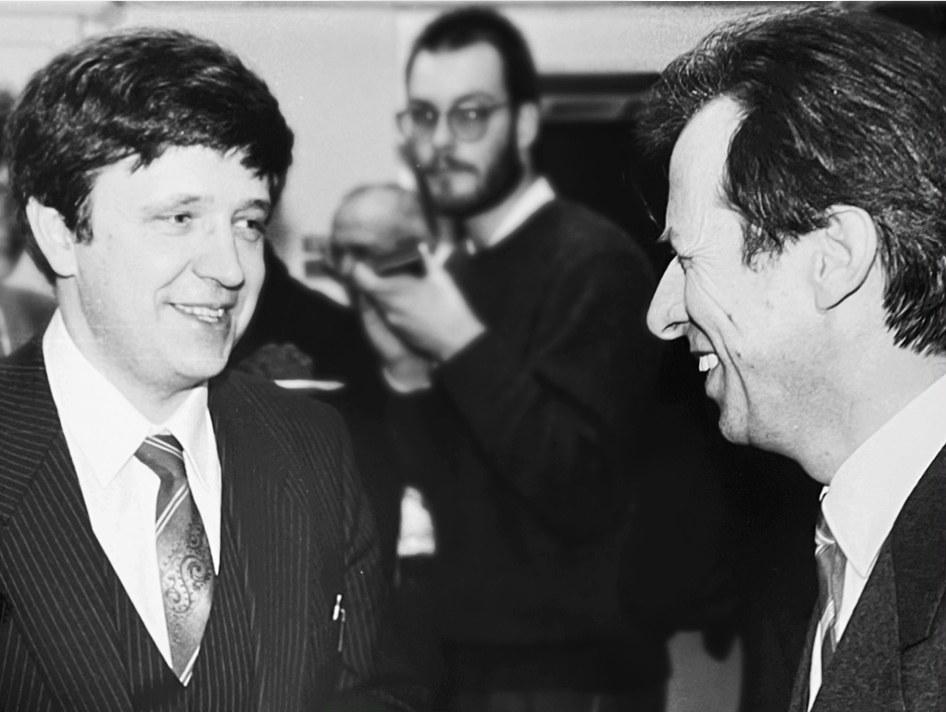 Prof. Dr. László Lovász (left)