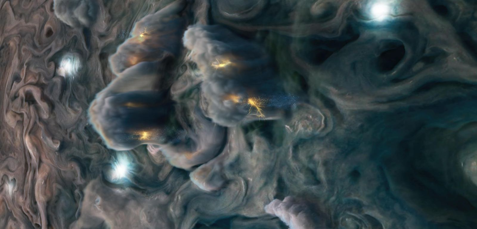 Thunderclouds on Jupiter