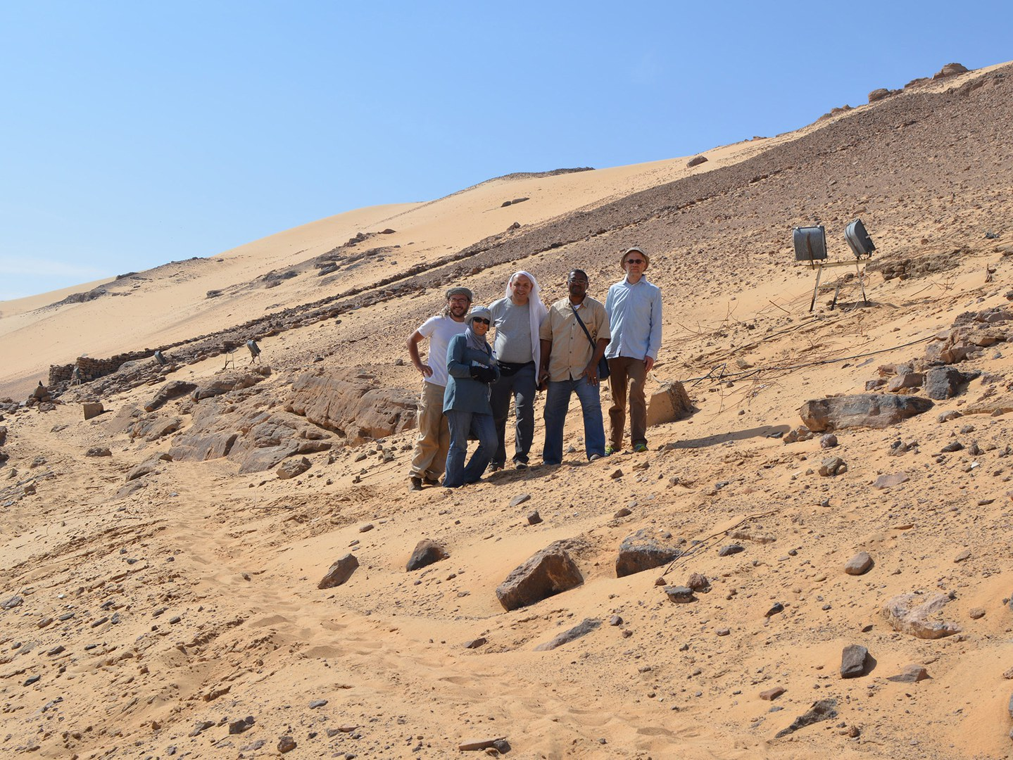 The excavation team and the Egyptian inspectors
