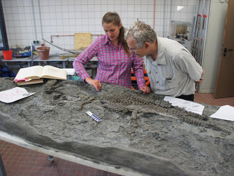 Paleontologists Tanja Wintrich and Martin Sander