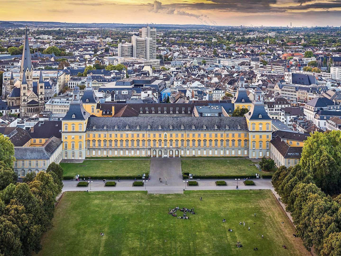 Areal view of the University of Bonn