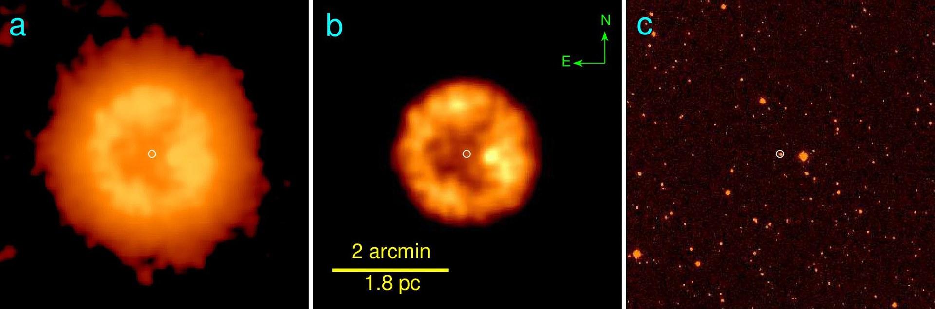 The infrared nebula of J005311: